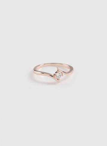 Dorothy Perkins Rose Gold Cubic Zirconia Split Ring