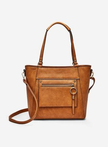 Dorothy Perkins Tan Ring Detail Tote Bag