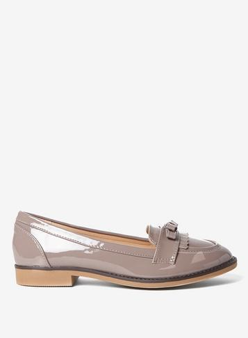 Dorothy Perkins Wide Fit Grey 'lizzy' Loafers