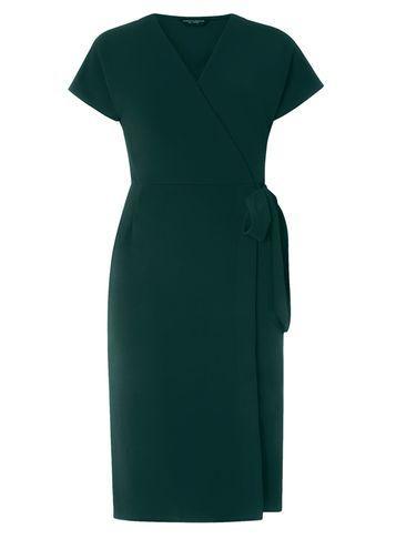 Dorothy Perkins Green Wrap Midi Dress