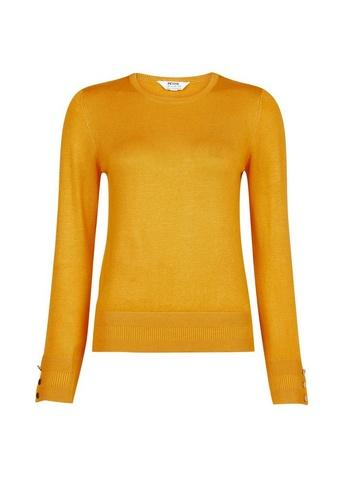 Dorothy Perkins Petite Yellow Button Detail Jumper