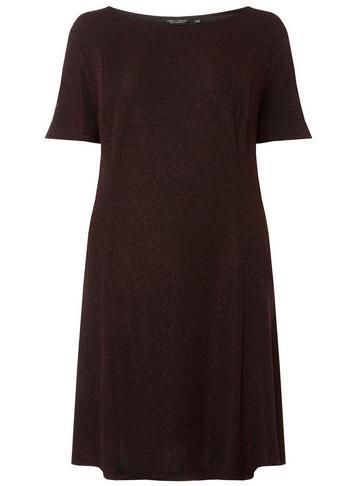 Dorothy Perkins *dp Curve Burgundy 'mariah' Skater Dress
