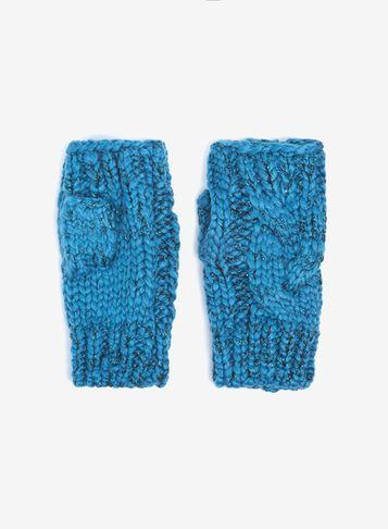 Dorothy Perkins Blue Fingerless Gloves