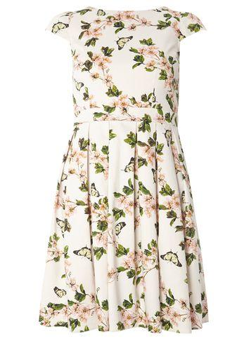 Dorothy Perkins Petite White Butterfly Print Prom Dress