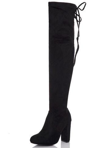 Dorothy Perkins *quiz Black Over The Knee Boots
