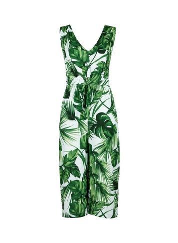 Dorothy Perkins Green Leaf Print Jumpsuit