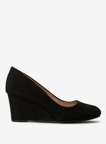 Dorothy Perkins Wide Fit Black Dreams Court Shoes