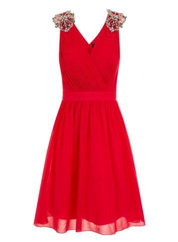 Dorothy Perkins *little Mistress Red Poppy Embellished Prom Dress
