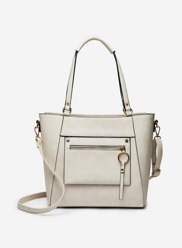 Dorothy Perkins Cream Ring Detail Tote Bag