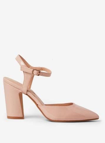 Dorothy Perkins Blush Eva Flared Court Shoes