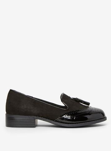Dorothy Perkins Wide Fit Black Libra Loafers