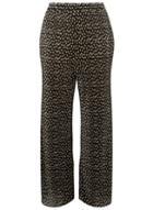 Dorothy Perkins *dp Curve Black Spot Print Plisse Palazzo Trousers