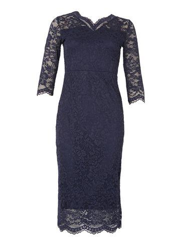 Dorothy Perkins *feverfish Navy Lace Scallop Bodycon Dress