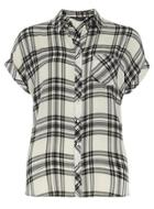 Dorothy Perkins Ivory Check Shortsleeve Shirt