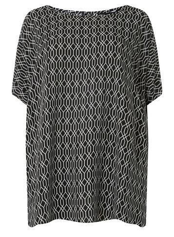 Dorothy Perkins *dp Curve Monochrome Geometric Soft T-shirt