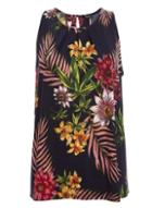 *quiz Navy Floral Print Sleeveless Tunic Top