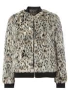 Dorothy Perkins Animal Faux Fur Bomber Jacket