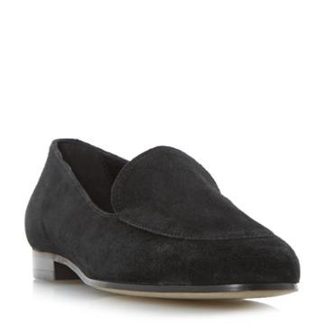 Dune Black Globe Apron Stitch Loafer Shoe