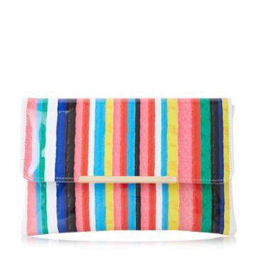 Dune London Bambu Stripe Print Clutch Bag