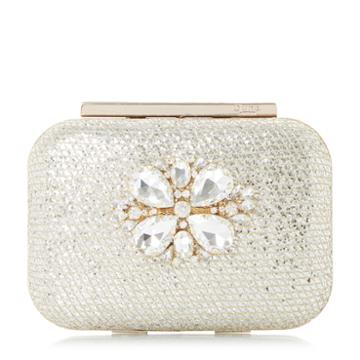 Dune London Blossome Di Embellished Box Clutch Bag