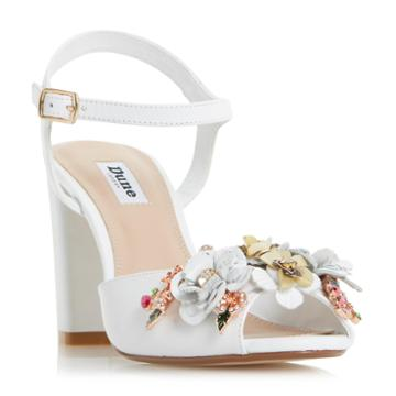 Dune London Mackaya Chunky Heel Floral Detail Sandal