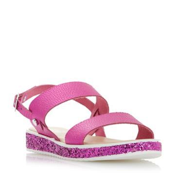 Dune London Lolitta Glitter Sole Flatform Sandal