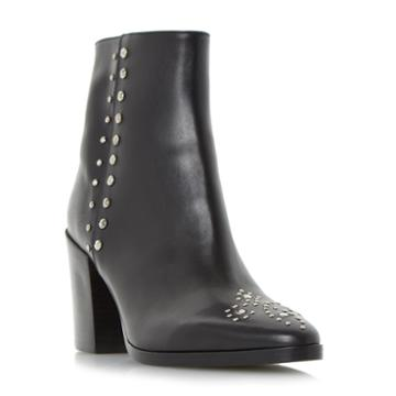 Dune Black Parlow Stud Detail Ankle Boot
