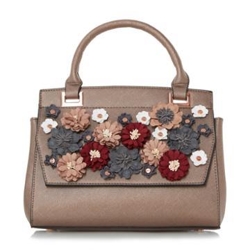 Dune London Daisy Floral Applique Embellished Handbag