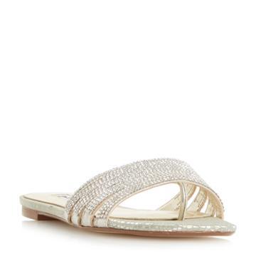 Dune London Nikitta Di Diamante Trim Slider Sandal