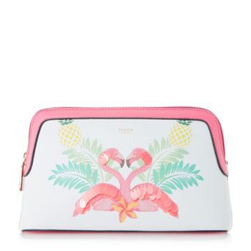 Dune London Steffi Flamingo Make Up Bag