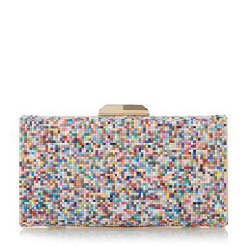 Dune London Bonansa Multi Coloured Beaded Clutch Bag