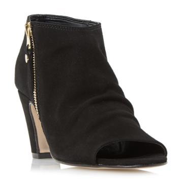 Dune London Isabela Side Zip Foot Coverage Sandal