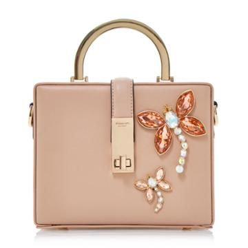 Dune London Darimeya Jewelled Dragonfly Box Handbag