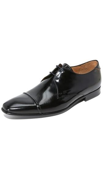 Ps By Paul Smith Robin High Shine Cap Toe Lace Up Shoes
