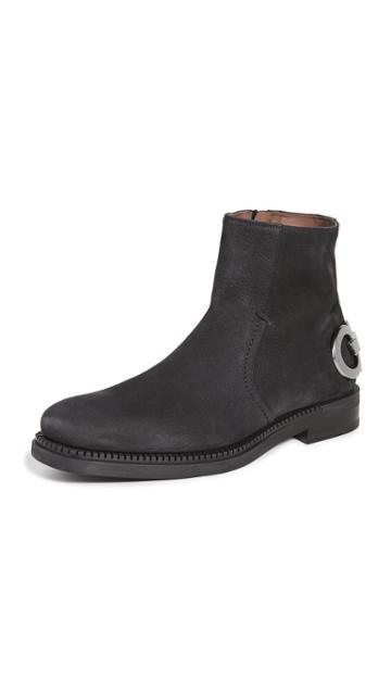 Salvatore Ferragamo Bankley Gancio Heel Runway Boots