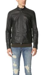 Vince Essential Moto Leather Jacket