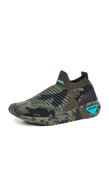 Diesel Sk B Camo Sock Sneakers