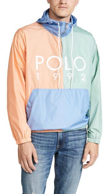 Polo Ralph Lauren Nylon Colorblock Logo Anorak