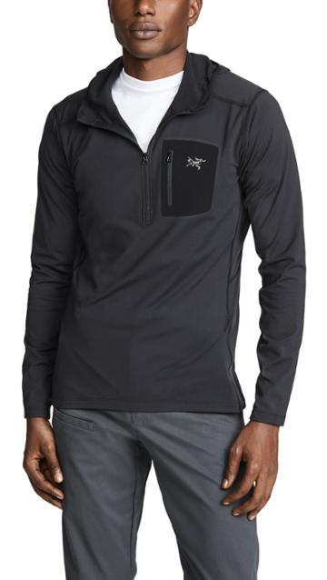 Arc Teryx Rho Lightweight Hooded Zip Neck Jacket