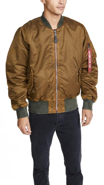 Alpha Industries Ma 1 Blood Chit Battlewash Flight Jacket