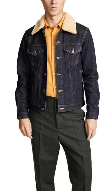 Coach 1941 Denim Jacket With Shearling Collar