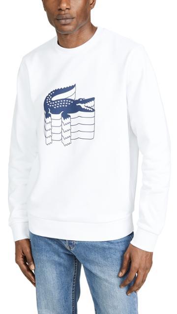 Lacoste Multi Croc Logo Sweatshirt
