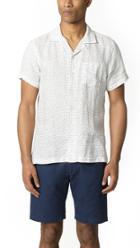 Todd Snyder Short Sleeve Camp Collar Polka Dot Shirt