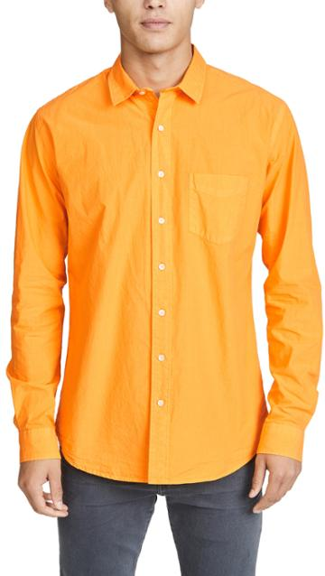 Schnayderman S Poplin Unbutton Garment Dyed Shirt