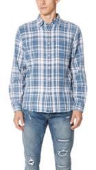 Frame Indigo Plaid Shirt