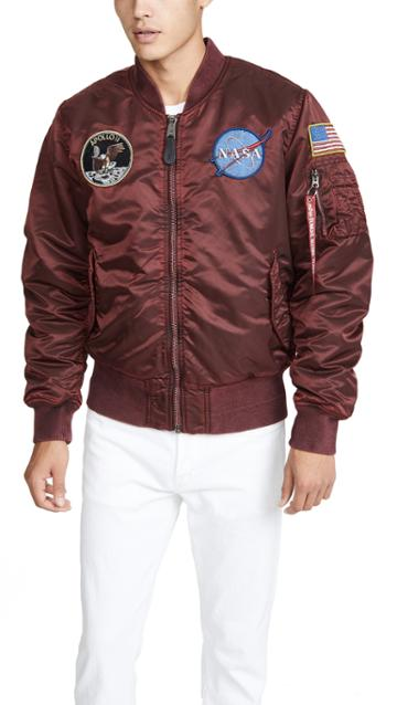Alpha Industries Ma 1 Apollo Battlewash Flight Jacket