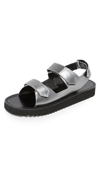Uri Minkoff Riva Metallic Sandals