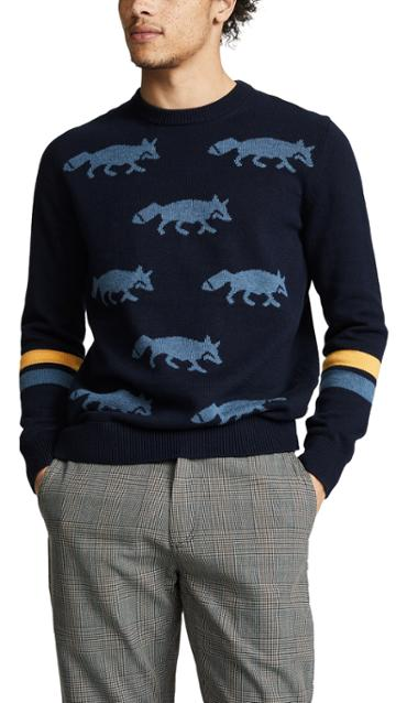 Ps By Paul Smith Intarsia Fox Sweater