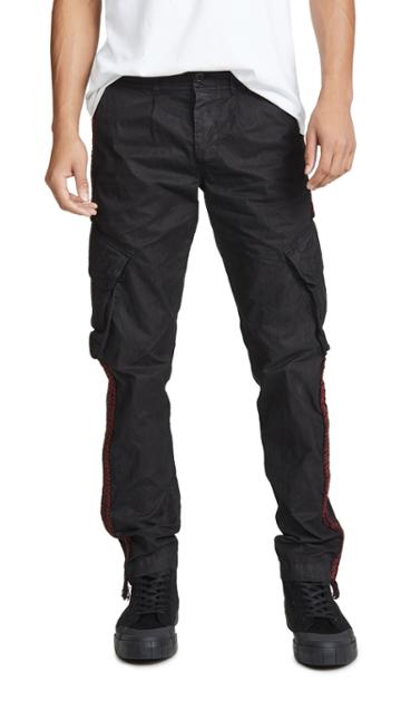 President S Jungle Cargo Trousers With Embroidered Taping