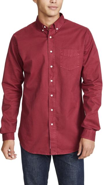 Schnayderman S Button Down Overdyed Shirt